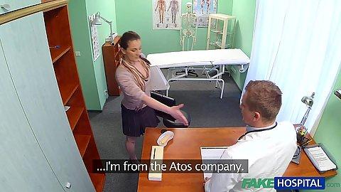 Tasty Valentina Monica hidden camera doctors visit