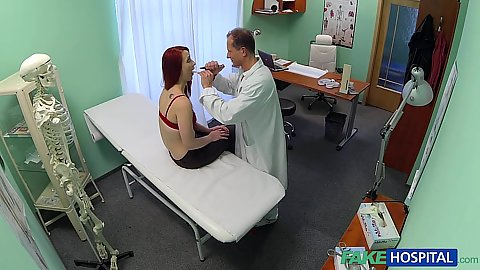 Pleasurable doctors office sex with redhead surprise