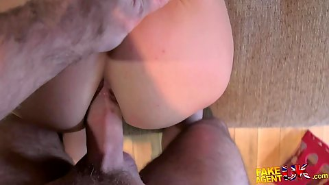 Anal pov doggy entry with sex for money during casting