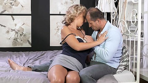 Appealing miniskirt Luci Angel is a mom with cock need