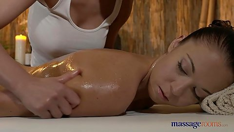 Fantastic oil massage with Angella and Lucy having relaxtion