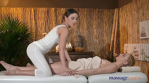 Ivy and Victoria exploring pussy massage with oil