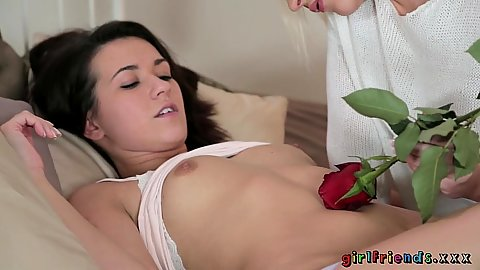 Lecherous rose arousing valentines day girls Tracy and Carrie