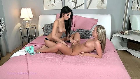Caitlin and Keira petite girls with very nice bodies sitting on face