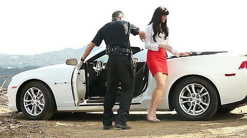 Police pull over with slim Bianca Breeze gets used