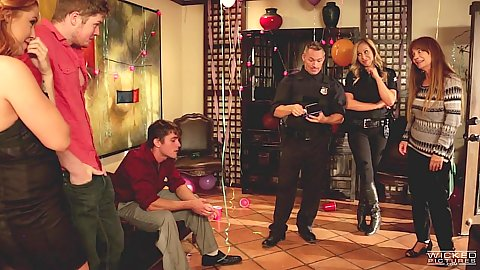 Party with Edyn Blair and police officer interrupting
