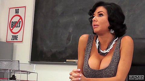 Stunning big melons teacher and a hot student come up Veronica Avluv and Riley Steele