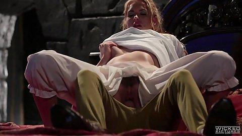 Keira Nicole fucks peter pan in parody hairy sex