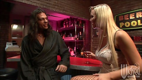 Bar blowjob with monster girl Abbey Brooks