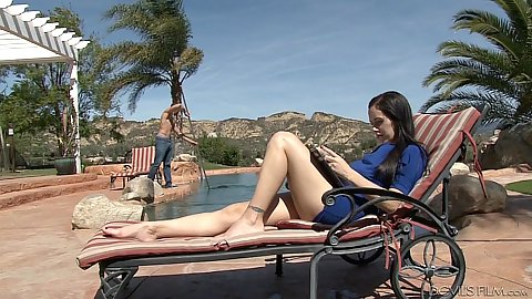 Milf outdoor Savannah Fyre is a stepmother with cock craving
