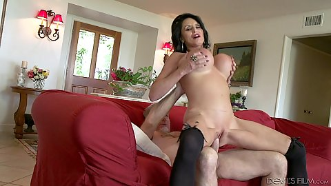 Lively dick riding milf with large melons Rita Daniels