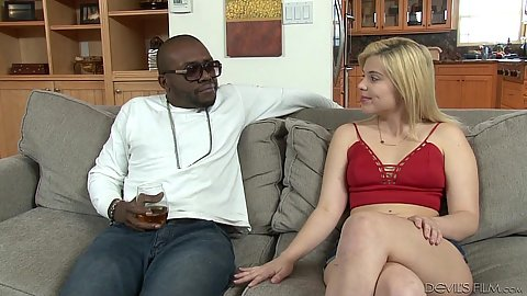 Blonde Rikky Rumor gets a new stepdaddy dick to suck