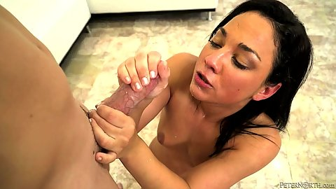 Charming deep throat with petite college whore Amara Romani