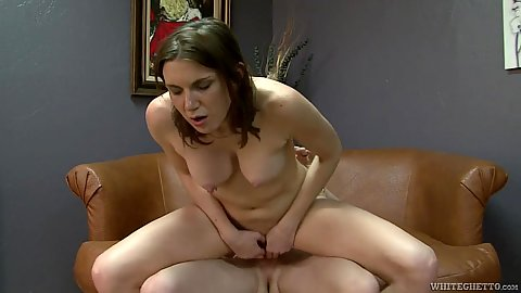 Playful college girl sits on dick and bends over Valerie Voxx