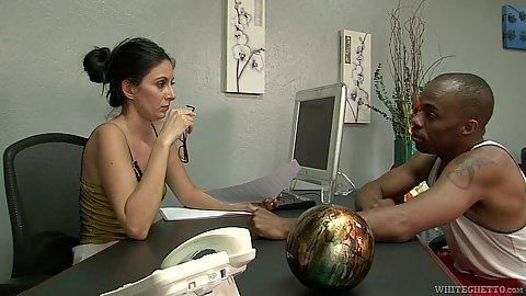 Office interracial interview Nikki Daniels