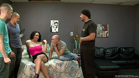 Group cuckold gang bang with Austin Lynn and her bisexual bf