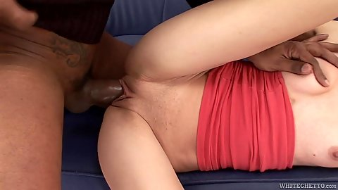 Impulsive young Petia interracial big dick humping
