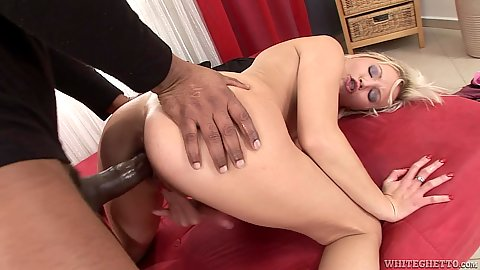 Delicious white Ellis Fire filled with a massive black dick from the rear