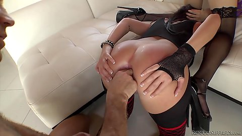 Teasing with ass fingering and some great pumping Cassandra Nix and Tiffany Tyler