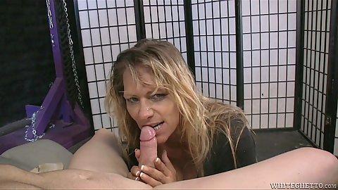 Dirty mom giving head in pov Debi Diamond