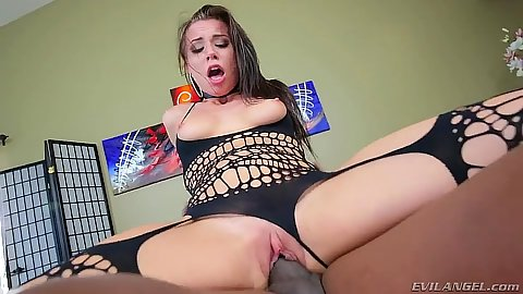 Younger girl Aidra Fox is cum thirsty for big black penis
