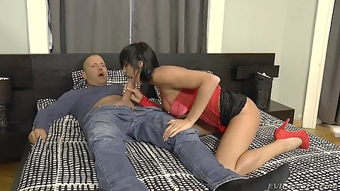 Filthy milf in lingerie oral sex and ass fucked Mia Jordan