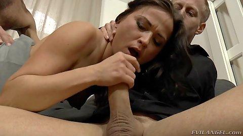 Desperate milf sucking some dick with petite Niki Sweet in 2 on 1