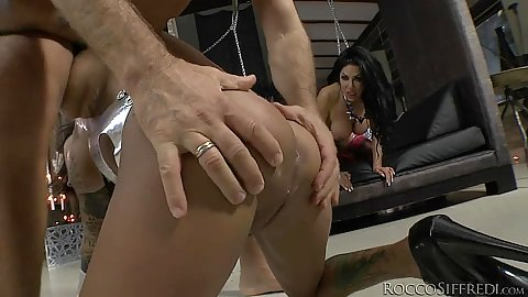 Bonnie Rotten and others enjoy a dungeon bang