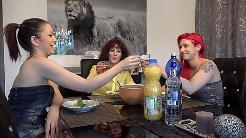 Dinner party with Samy Saint going to fuck bf