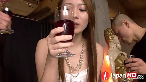 Astonishing asian party with Kazumi Nanase getting roped by men