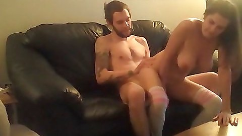 Chick fucked while using a clit massager on clit