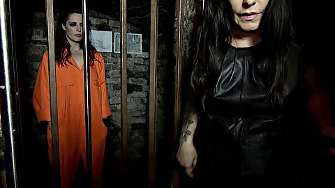 Prison dungeon with milf and a college inmate Samantha Bentley and Daisy Rock