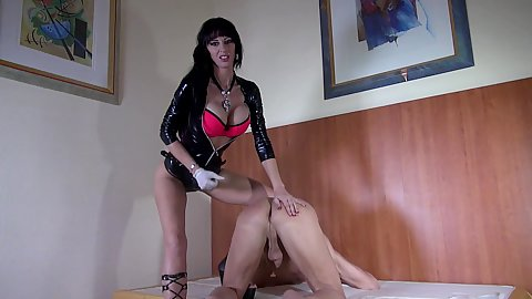 Milf Gina Bang loves to finger and jerking mans cock
