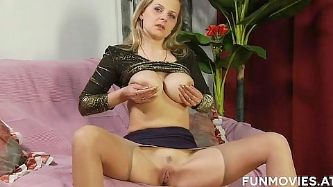 Sex milf masturbation with large tits and open crotch pantyhose eats mans ass