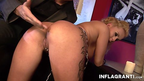 Ass spanking and cock riding Curly Ann