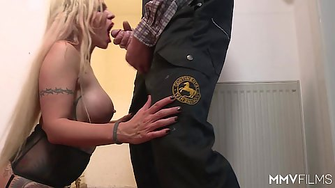 Busty blonde milf Mia De Berg in euro farmer sharing sex