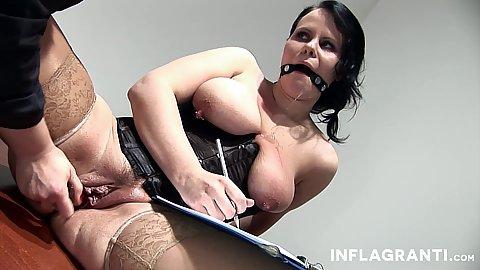 Dildo insertion and fetish lesbians Sarah Leony and Lady Alexxa