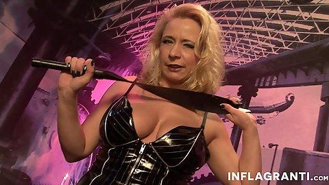 Mature latex whore from germany Herrin Vivia wants shaft