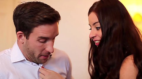Touching and kissing newbie couple Lexie Candy