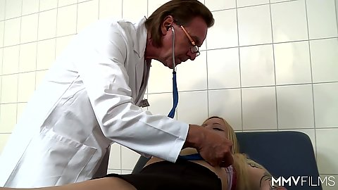 Committed blonde Kitty Blair needs doctors touch