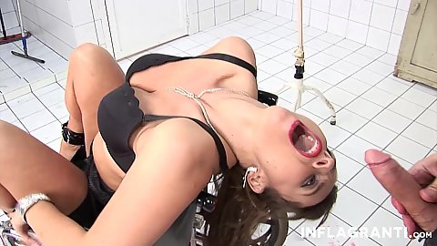 Girl moans and screams while getting gonzo fucked with enemas and golden showers