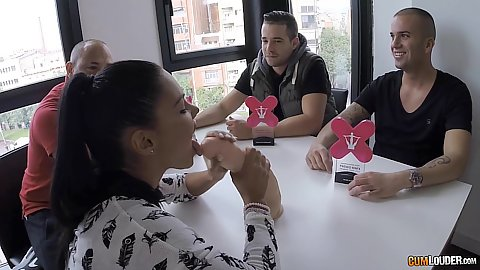 Group of 18 year old girls with Apolonia getting two dicks