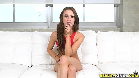 First timer Anya Olsen agrees to get naked for audition