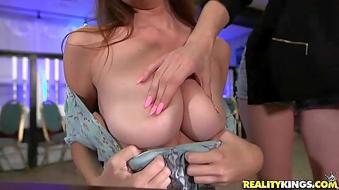 Flashing some large titties for cash with Layla London and Molly Mae