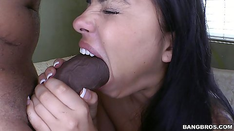 Monster dick latina Angelina Stoli managing to get that in her mouth with some sex