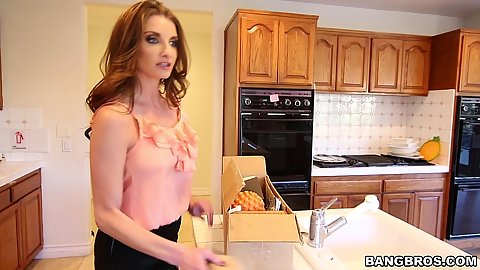 Beautiful stepmom milf Jade Nile giving head with Savanah Sage1