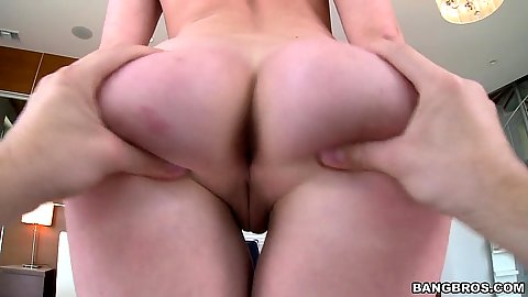 Ass spreading and pussy touching with honey Dakota James