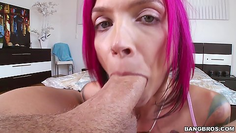 Daring deep throat with pov whore Anna Bell Peaks