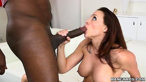 Huge cock Chanel Preston giving head and then intercourse