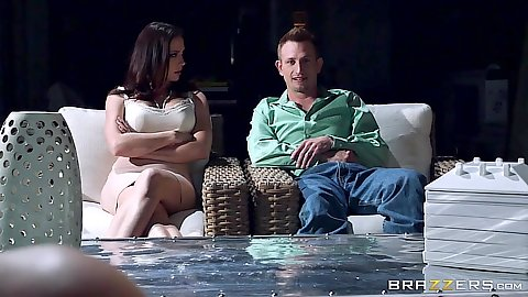 Fully clothed busty Chanel Preston and Cassidy Klein in wettest dreams